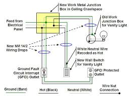Magnificent Wiring Diagram For Bathroom Vanity Light Inspiring - Bathroom vanity light with outlet