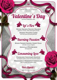 valentines flyer template s day menu flyer template v 8 that s design