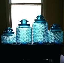 glass kitchen canisters sets blue kitchen canister sets blue kitchen canisters beautiful