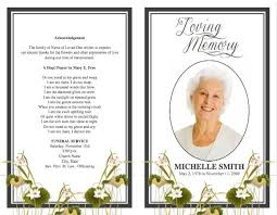 memorial cards for funeral template free xmas2017 net