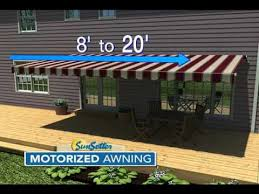 Motorized Awnings Reviews Sunsetter Motorized Awning Models Youtube