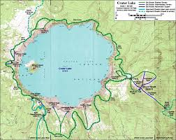 map of oregon near crater lake skiing the cascade volcanoes crater lake