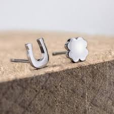 ear studs ear studs horseshoe clover ponytail co