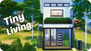 Modern Tiny Home by Sims 4 Speed Build Modern Tiny House Youtube