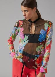 blouse for floral silk chiffon blouse for giorgio armani