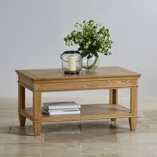 Natural Solid Wood Furniture Classic Natural Solid Oak Coffee Table Oak Furniture Land