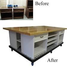 build a craft table diy work table build a base on casters build a table top and use