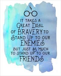 harry potter watercolor quote printables enemies harry potter