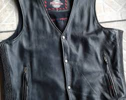 Cowhide Leather Vest Cowhide Vest Etsy