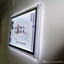 led picture frame light 2018 acrylic backlit poster frames a1 poster size crystal frame led