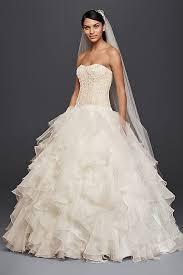 wedding skirt oleg cassini strapless ruffled skirt wedding dress david s bridal