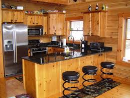 Wooden Kitchen Cabinet by Kitchen Awesome Kitchen Design With Log Wooden Kitchen Cabinet