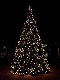 target white christmas tree lights christmas tree with lights outdoors in the mountains hd desktop