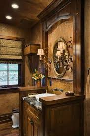 tuscan bathroom design powder room lovely tile accent wall sconces and large floor
