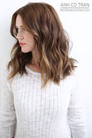 collarbone length wavy hair hair style shoulder length haircuts for women over with bangs