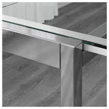 ikea glivarp extendable table glivarp extendable table transparent chrome plated 125 188x85 cm ikea