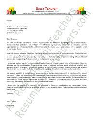 preschool teacher cover letter