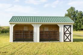 12x24 horse barn run in shed with gates and tack room byler barns