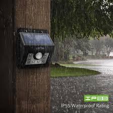 Solar Powered Motion Sensor Outdoor Light by Solar Powered Wireless 8 Led Security Motion Sensor Lamp Outdoor