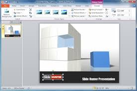 powerpoint template with 3d cube animation