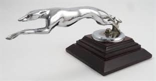 a lincoln greyhound american chrome car mascot circa 1930 s