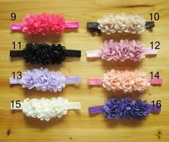 flowers for headbands wholesale newborn headbands mini chiffon flowers lace headband