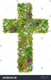 easter green spring cross jesus my stock photo 376331335