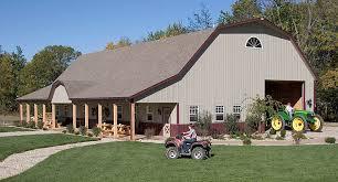 Gambrel Roof Barn Gambrel Roof Pole Barn Garage Alexandria Indiana Fbi