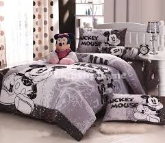 Mickey Mouse Bed Sets Grey Mickey Mouse Bedding Fitted Sheet And Comforter Cover Disney