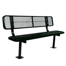 Aluminum Park Benches Park Benches Park Furnishings The Home Depot