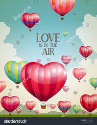 heartshaped air balloons taking off stock vector 171973793