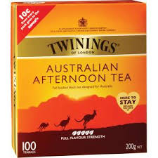 twinings australian afternoon tea bags pack 100 staples now winc