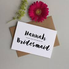 thank you bridesmaid cards the 25 best bridesmaid thank you cards ideas on