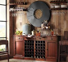 Buffet Bar Cabinet Modular Bar Buffet With 2 Wine Grid Bases 2 Cabinets Pottery Barn