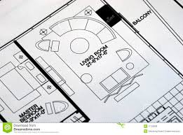 a floor plan focused on the living room royalty free stock images