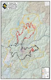 Idaho Road Map Update Pioneer Fire Has Burned Nearly 260 Square Miles Idaho