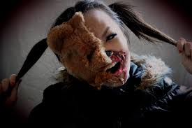 half face halloween makeup zombie half face teddy bear halloween make up tutorial