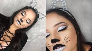 halloween cat makeup halloween glam cat makeup tutorial diy cat ears youtube