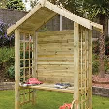 arezzo wooden garden arbour seat wooden supplies