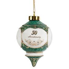 anniversary ornament happy 50th wedding anniversary 4 5 inch