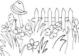 garden clipart bw collection