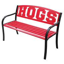 Outside Benches Home Depot by Leigh Country Arkansas Hogs Metal Patio Bench Tx 93558 The Home