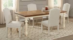 cottage dining room sets hillside cottage white 5 pc rectangle dining room dining room sets