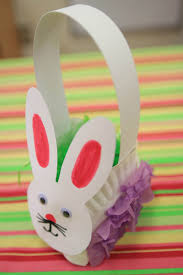 easter bunny basket paper plate basket easter paper craft ideas
