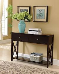 Sofa Table With Drawers Brand Cherry Finish Wood Entryway Console Sofa