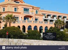 hotel villa italia near cascais portugal stock photo royalty free