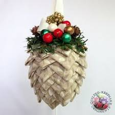 quilted pine cone ornament prairie creations ornaments offers