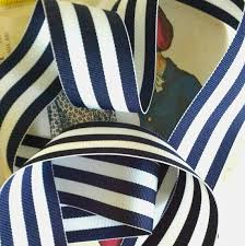 navy and white striped ribbon navy blue and white striped ribbon striped nautical ribbon 1 5