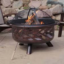 Firepit Grille by Red Ember Rubbed Bronze Crossweave 36 Inch Wood Burning Fire Pit