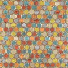 Geometric Drapery Fabric Gem Market Henna Multi Geometric Embroidered Faux Silk Drapery